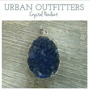 Urban Outfitters Blue Stone Necklace Pendant